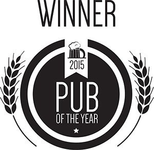 2015 Pub of the year certificate