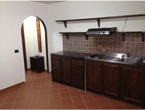 bancone di una cucina in legno