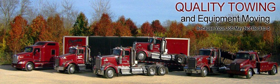 Truck performing towing services in West Chester, OH