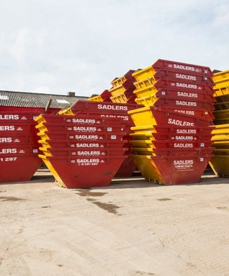 containers on commercial site