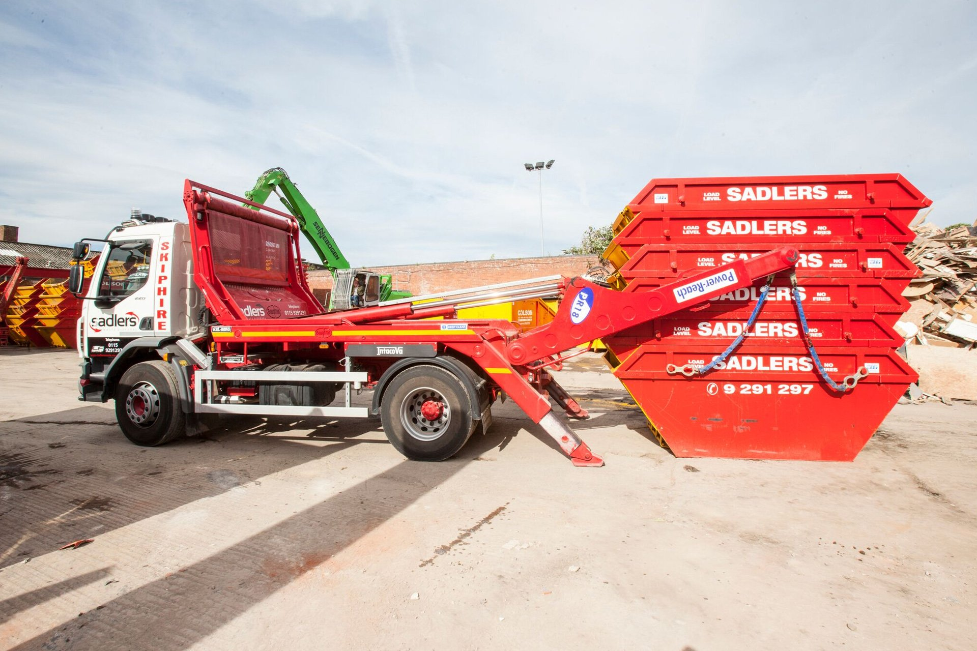 skip hire side view