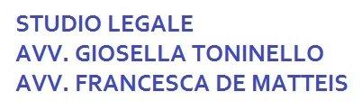 STUDIO LEGALE TONINELLO AVV. GIOSELLA DE MATTEIS AVV. FRANCESCA - Logo