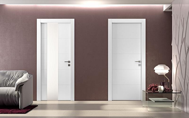 porte interne in legno bianche