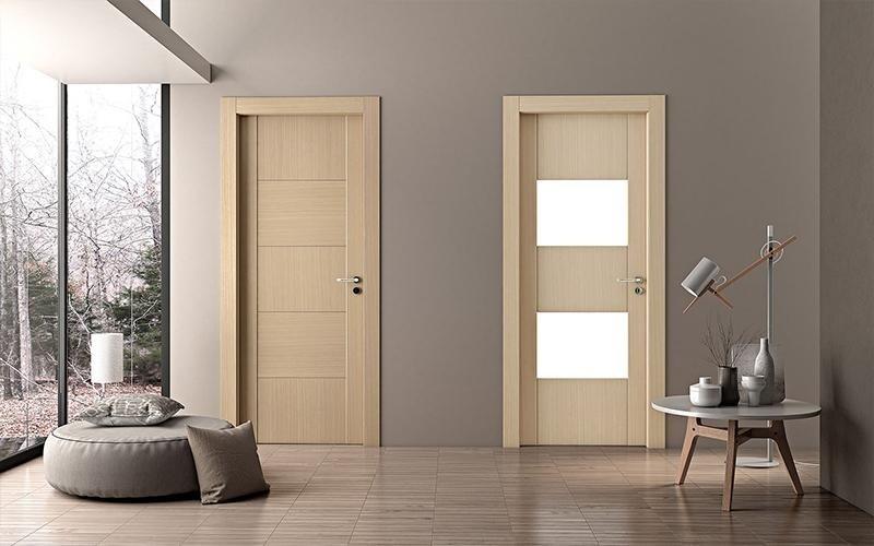 porte interne in legno beige
