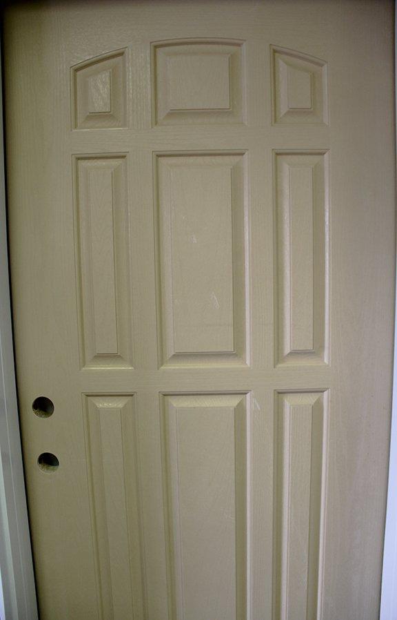 Nine panel entry door