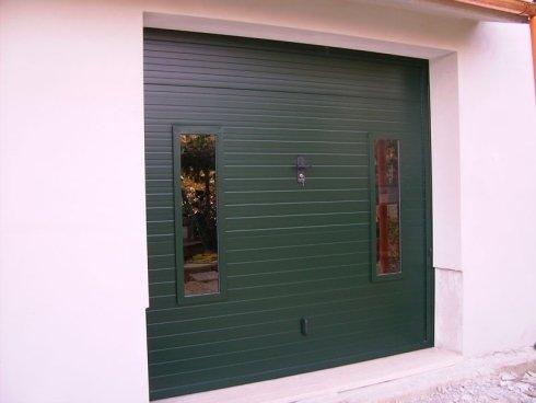 copertura in pvc sezionale con vetratura
