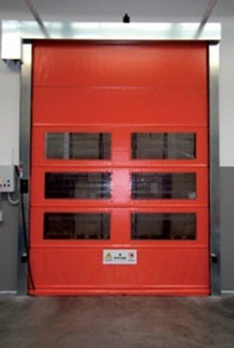 porte industriali rapide apertura verticale