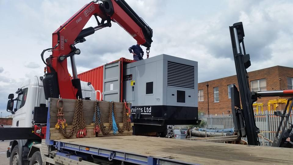 Construction parts haulage