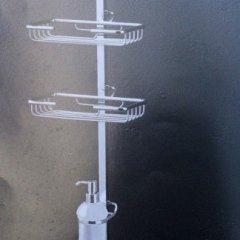 Accessori doccia in metallo lucido
