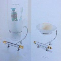 Accessori bagno i metallo bicolore