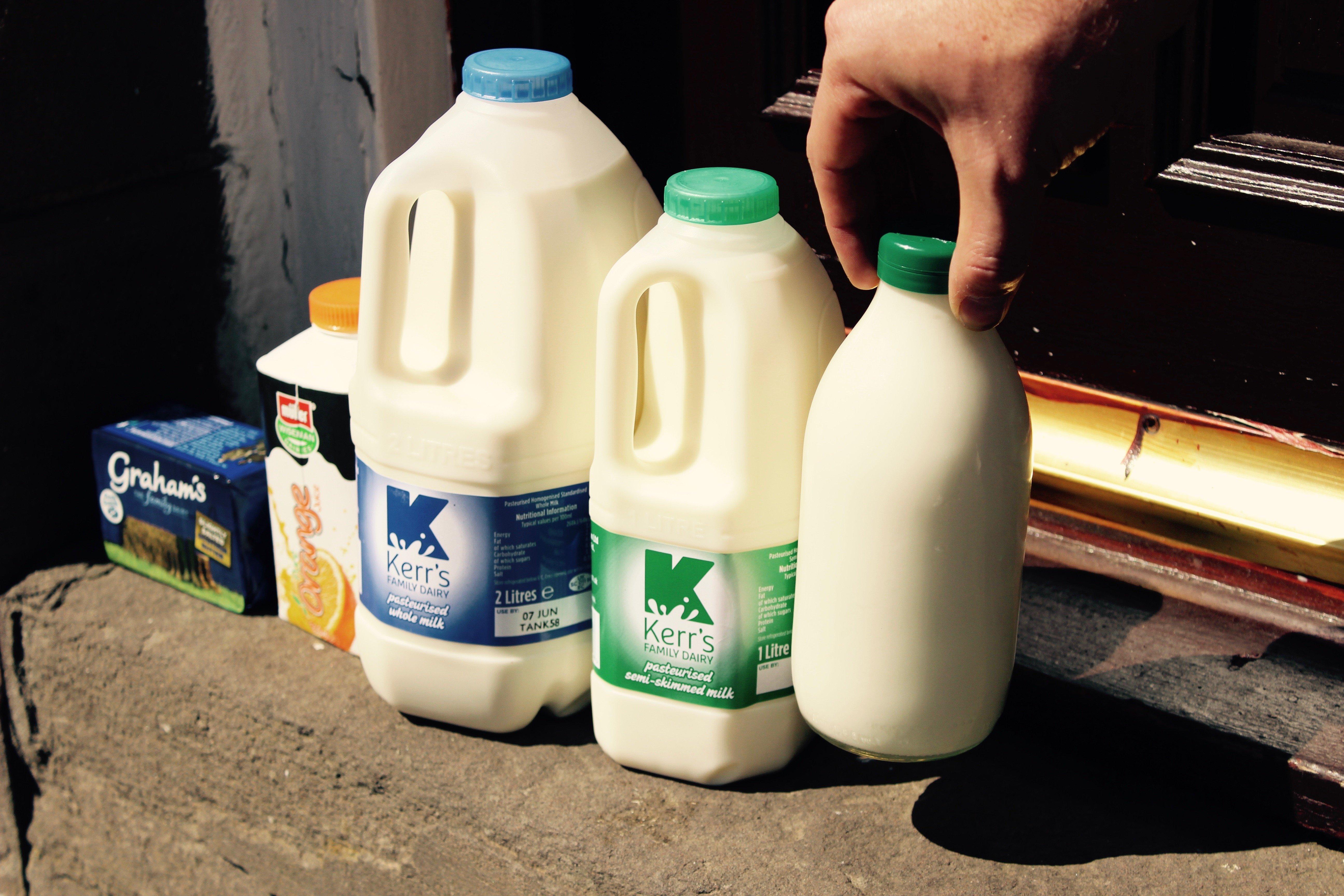 picking milk container