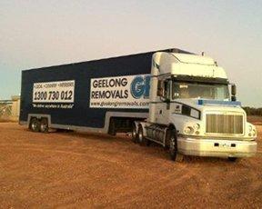 geelong removals truck on desert