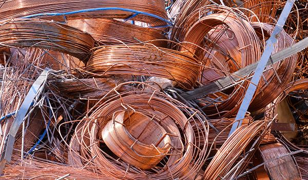 Rottami metallici pronti per il riciclaggio