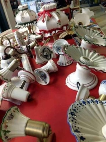 lampadari e accessori in ceramica