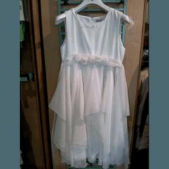abito da cerimonia bianco per bambine