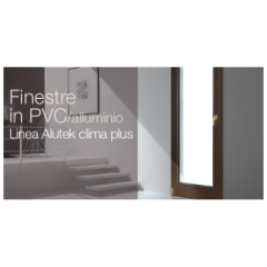 Finestre in PVC alluminio Alutek Clima Plus