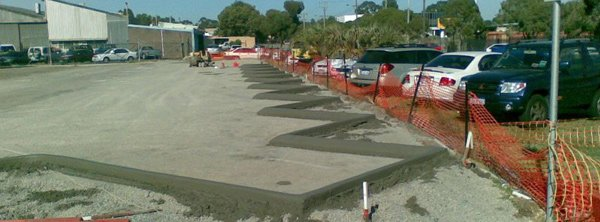 Commercial kerbing in Perth