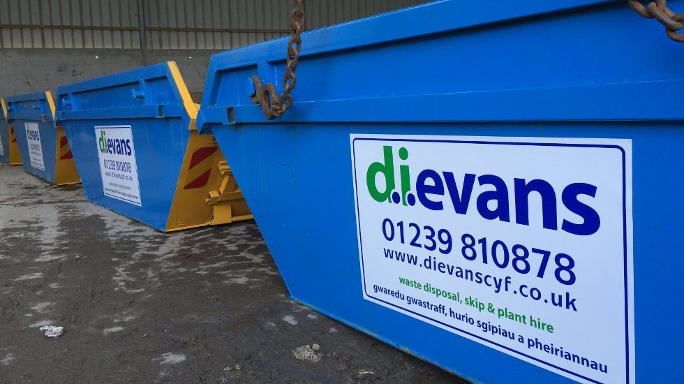 contact details on the skip