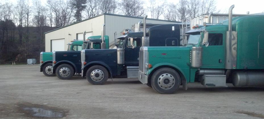 Heavy transport vehicle parked outside in Genesee, PA