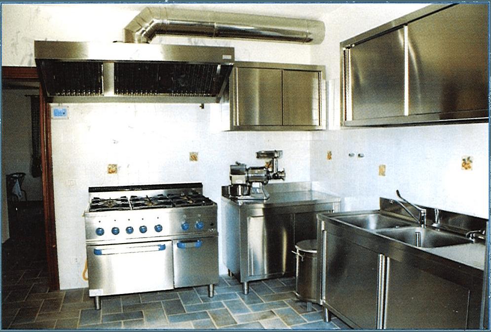 Vista della cucina della casa di riposo