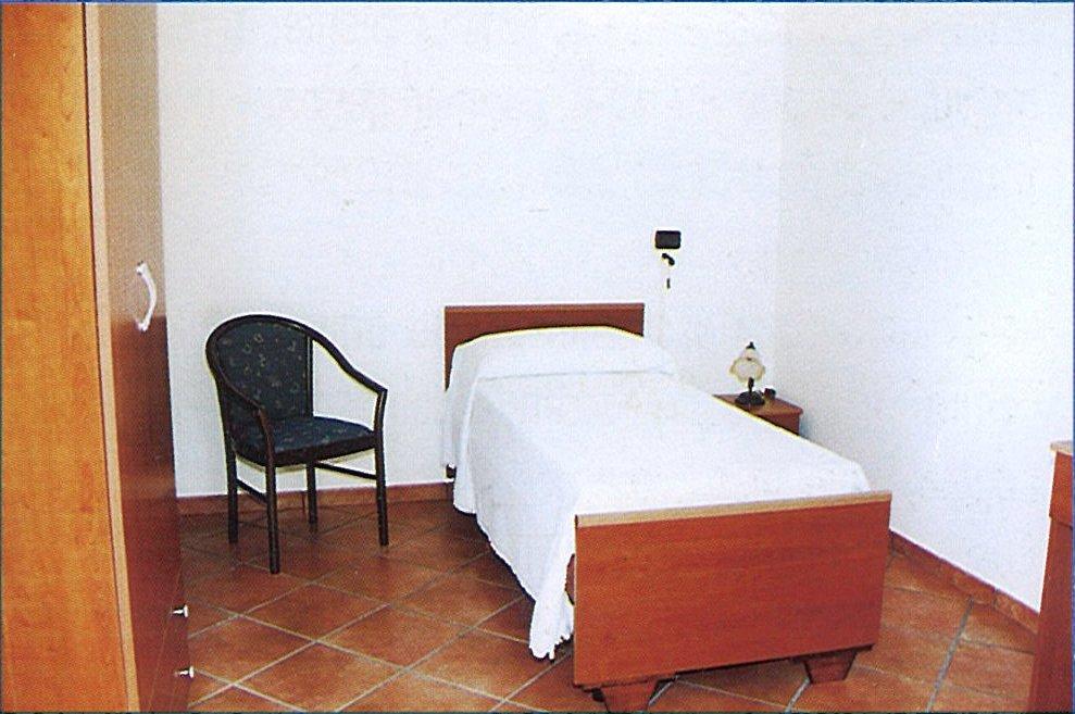 Una camera presente all'interno della struttura