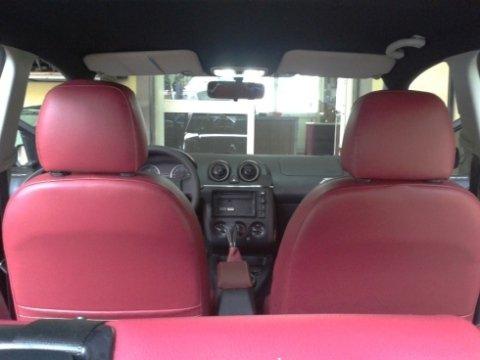 sedili auto pelle rossa