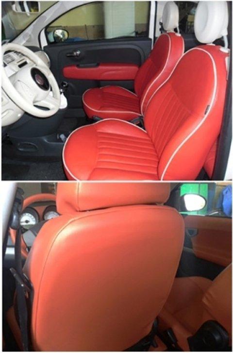 sedili auto arancioni