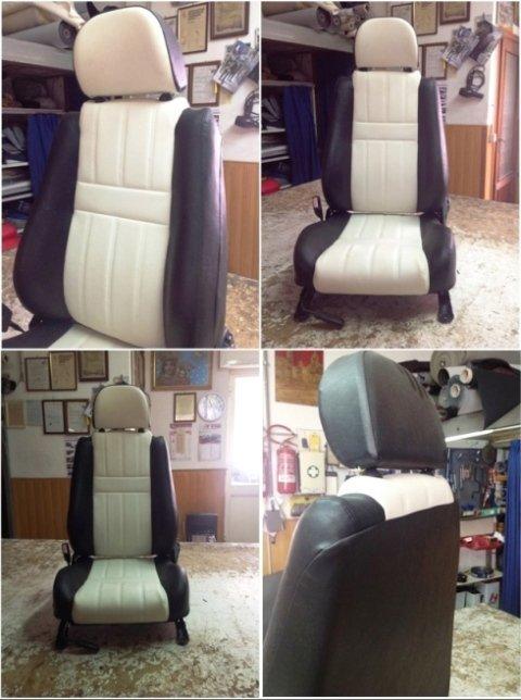 sedile auto bianco e nero