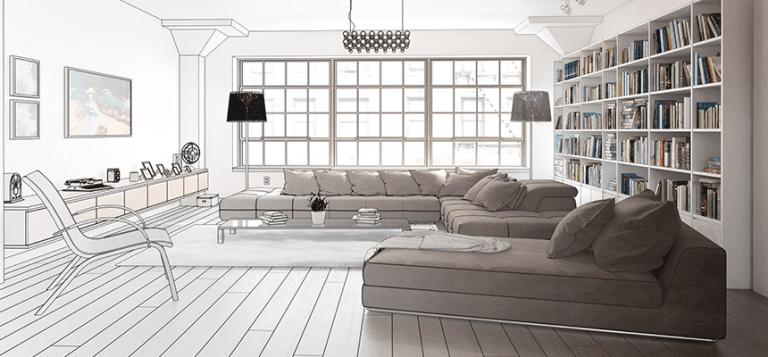 Progettazione di interni 3d design casa creativa e for Progettazione esterni