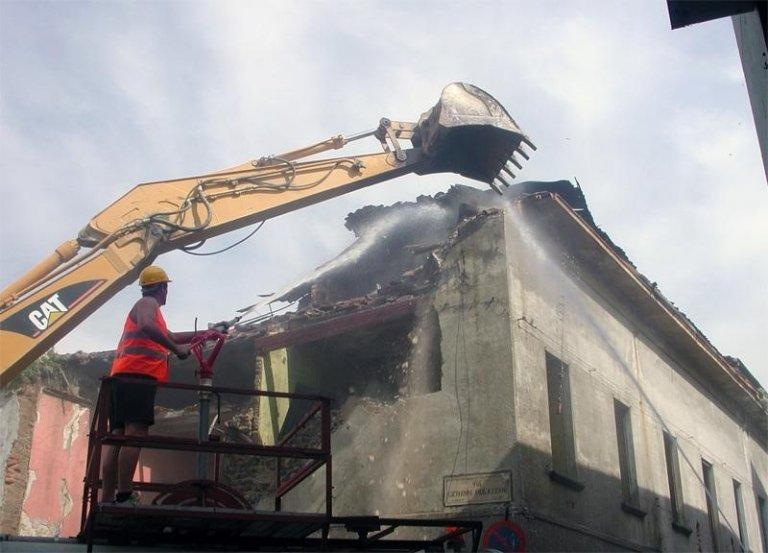demolizione tetto