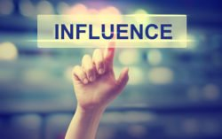 Building influence on social media involves caring about others and sharing your own message.