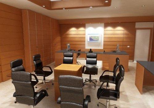 delle sedie da ufficio e delle scrivanie