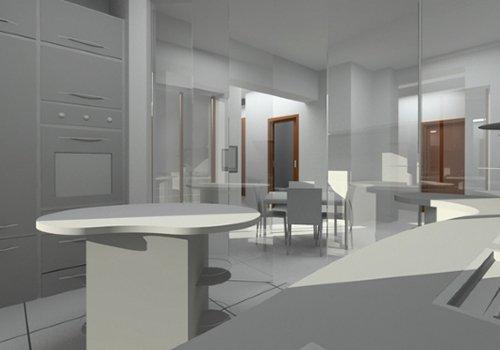 un disegno in CAD di una cucina moderna