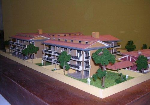 un disegno in 3d di un'area residenziale