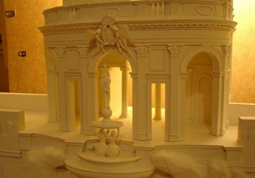 una fontana bianca