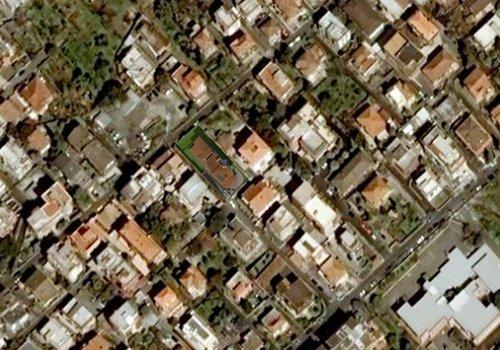 visuale aerea di un'area residenziale