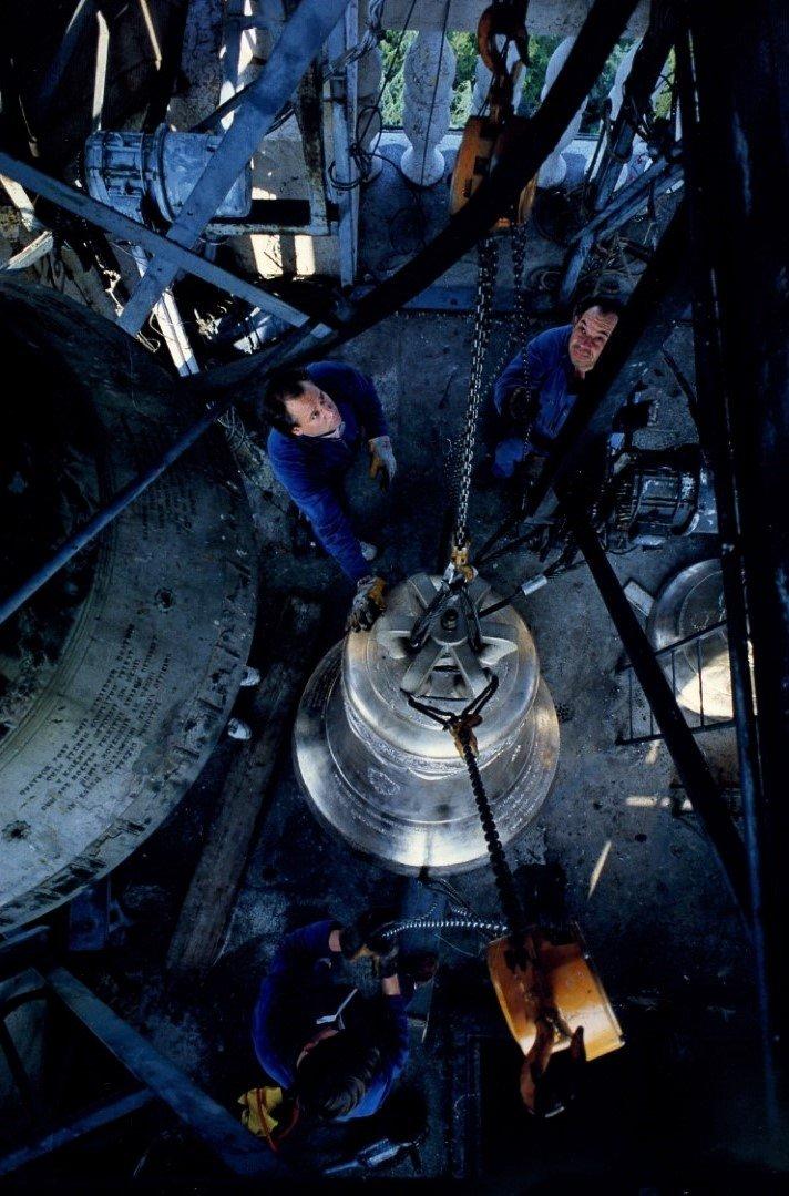 Vista dall'alto di una campana