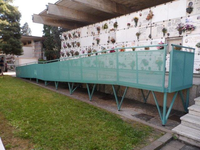 soppalco verde per tombe a muro