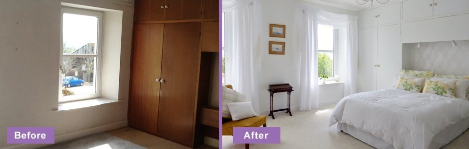 before and after interior decoration