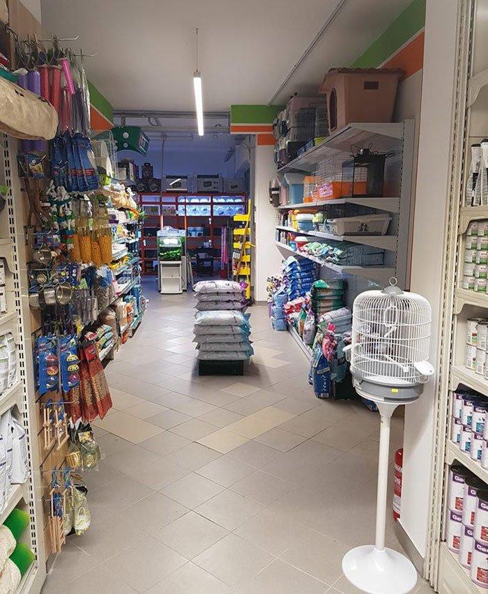 interno di un negozio di animali