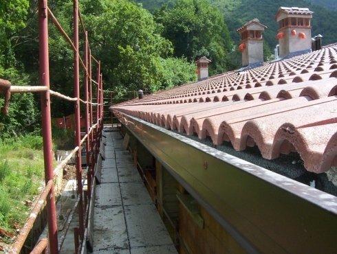pannelli per finitura tetto, anche con coppi
