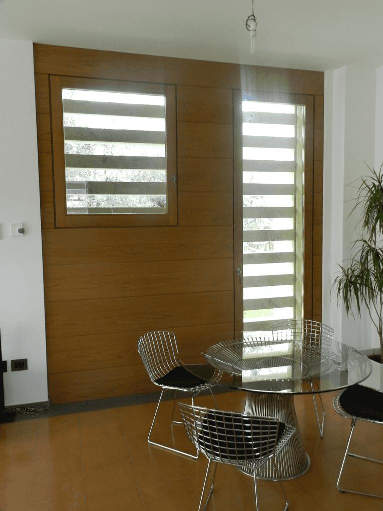 struttura porta finestra in legno