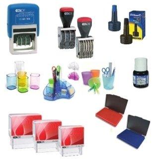 timbri, inchiostri, accessori scrivania