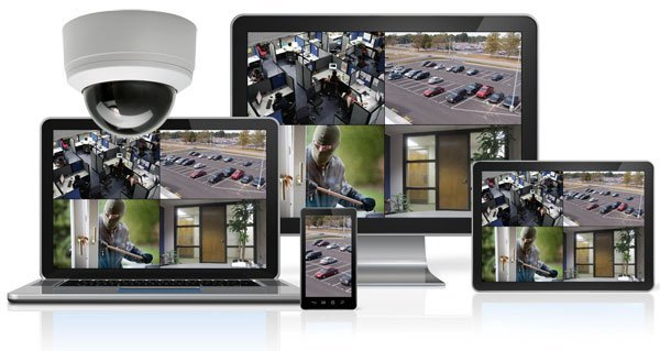security cameras and monitors
