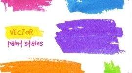 foglio con pennellate colorate