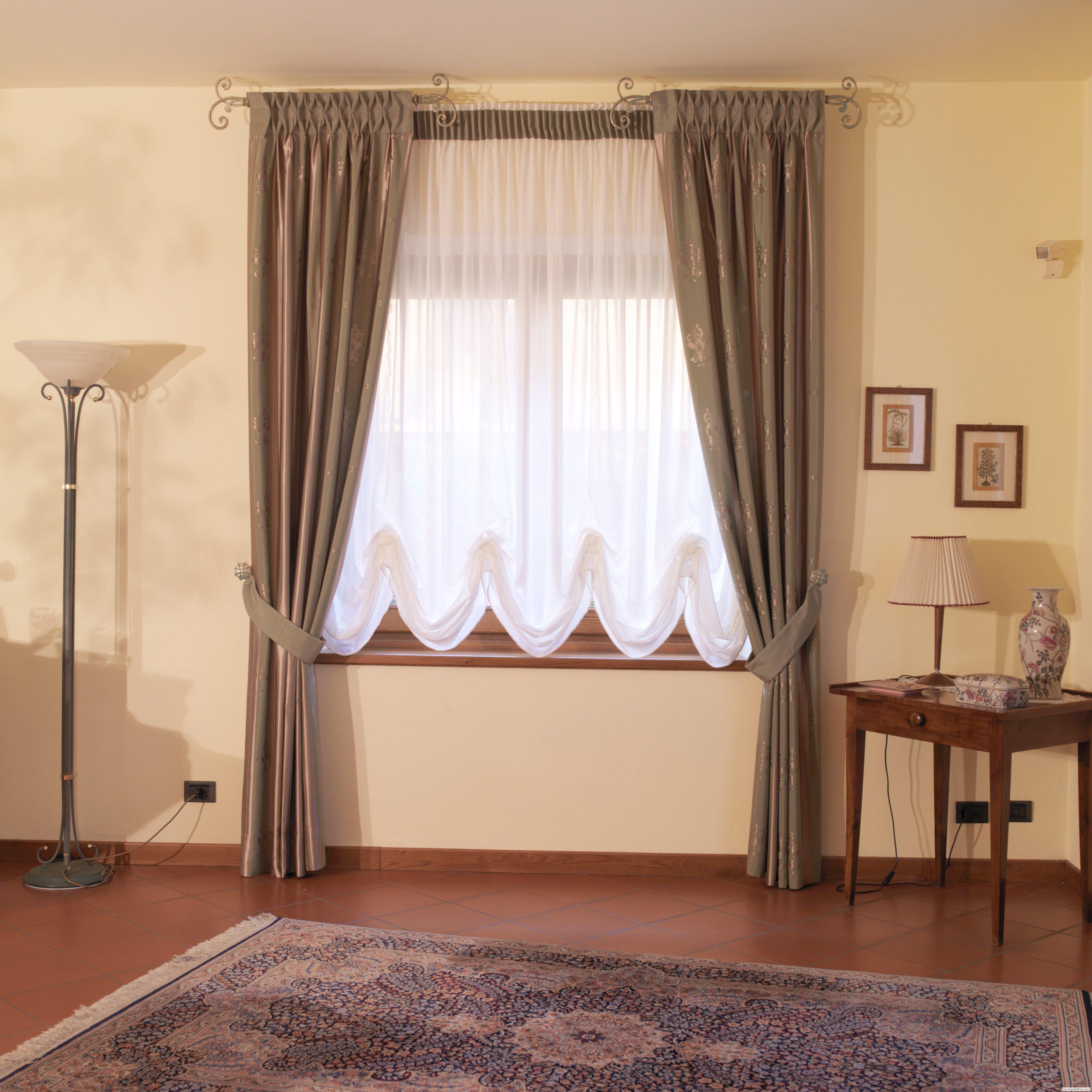 Tende da arredamento per interni da interno con anelli for Tende da arredo casa