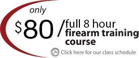90 dollar for 12 hour firearm training course