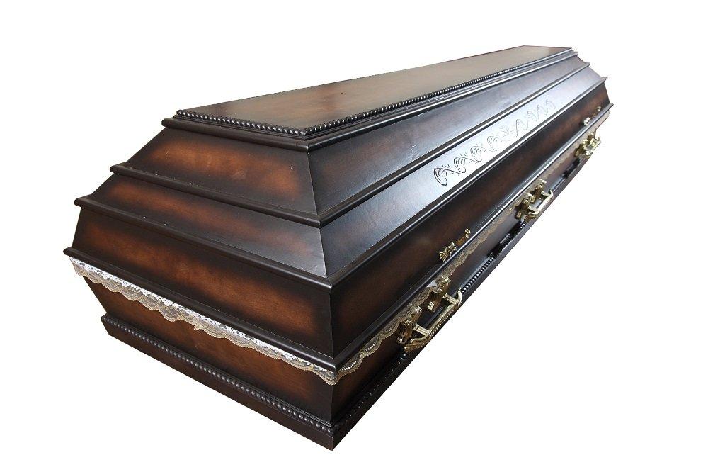 cofano funebre in legno scuro