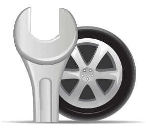 Icon of wrench and tire