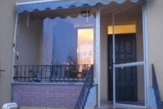 Chiusura veranda e porta in cristal trasparente